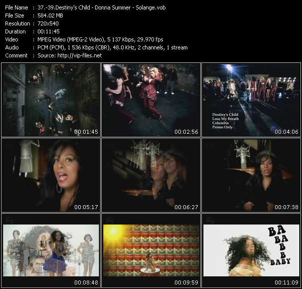 download Destiny's Child - Donna Summer - Solange « Lose My Breath - Stamp Your Feet - Sandcastle Disco » video vob