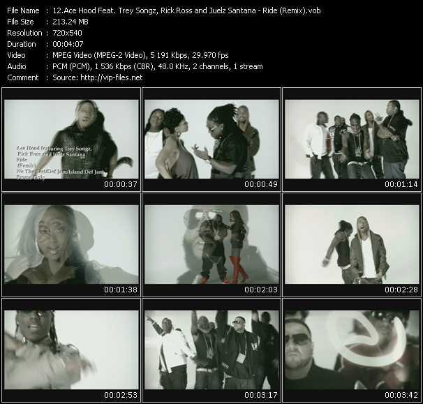 download Ace Hood Feat. Trey Songz, Rick Ross And Juelz Santana « Ride (Remix) » video vob