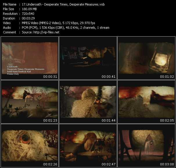 download Underoath « Desperate Times, Desperate Measures » video vob