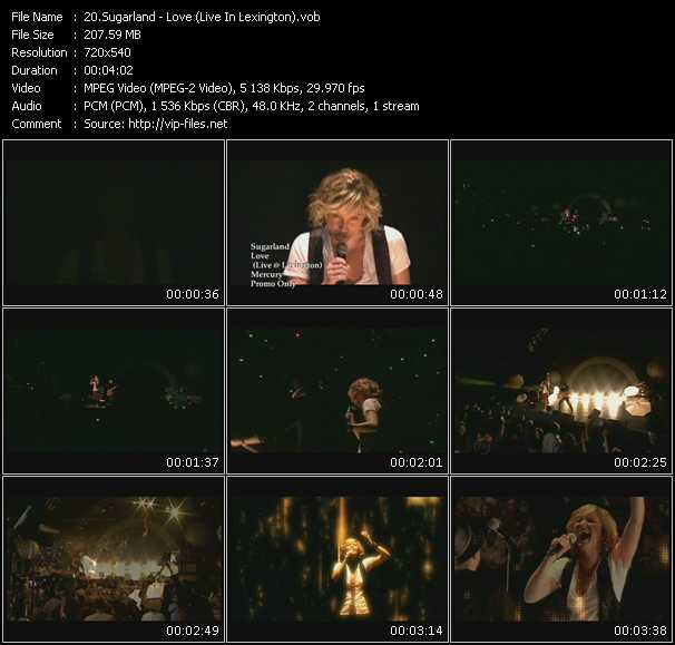 download Sugarland « Love (Live In Lexington) » video vob