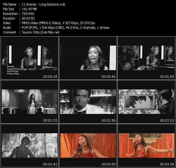 download Brandy « Long Distance » video vob