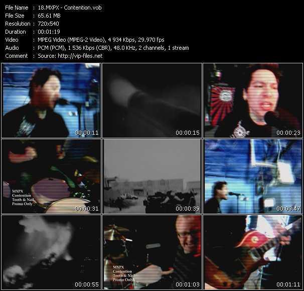download MxPx « Contention » video vob