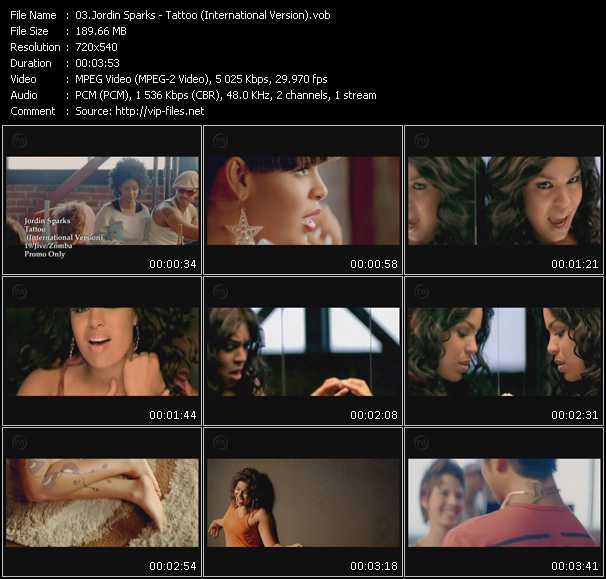 video Tattoo (International Version) screen