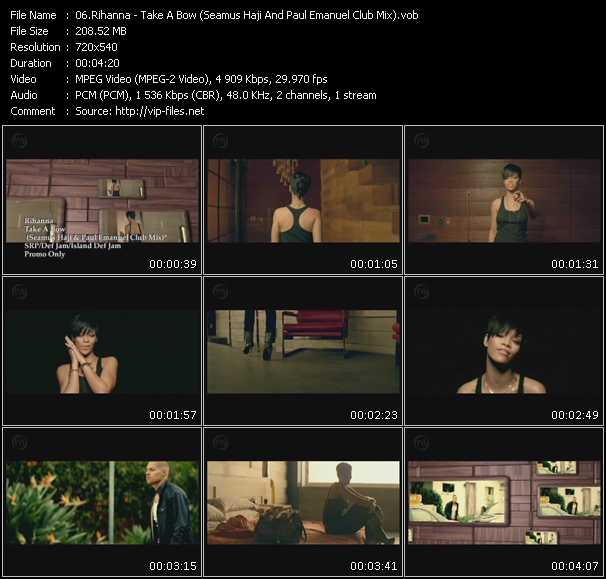 download Rihanna « Take A Bow (Seamus Haji And Paul Emanuel Club Mix) » video vob