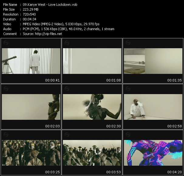 download Kanye West « Love Lockdown » video vob
