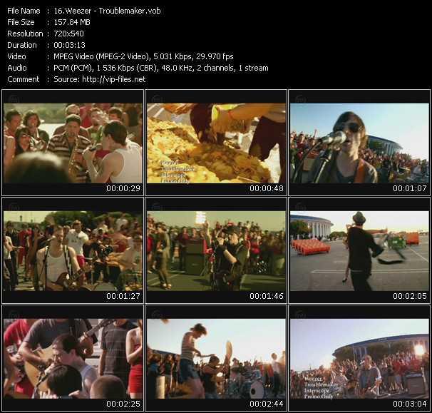 download Weezer « Troublemaker » video vob