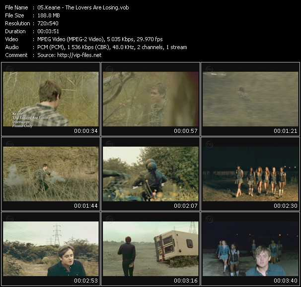 download Keane « The Lovers Are Losing » video vob
