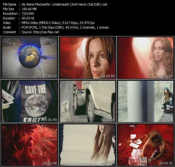 download Alanis Morissette « Underneath (Josh Harris Club Edit) » video vob