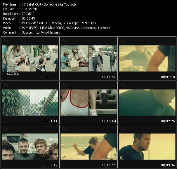 download SafetySuit « Someone Like You » video vob