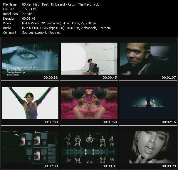 download Keri Hilson Feat. Timbaland « Return The Favor » video vob