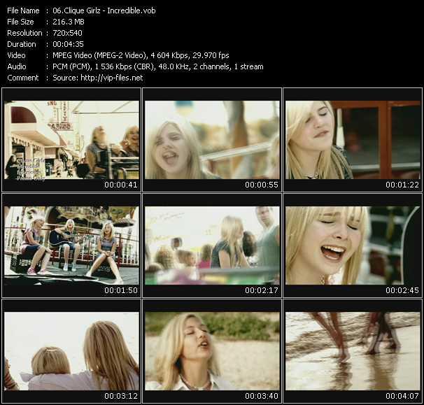 download Clique Girlz « Incredible » video vob