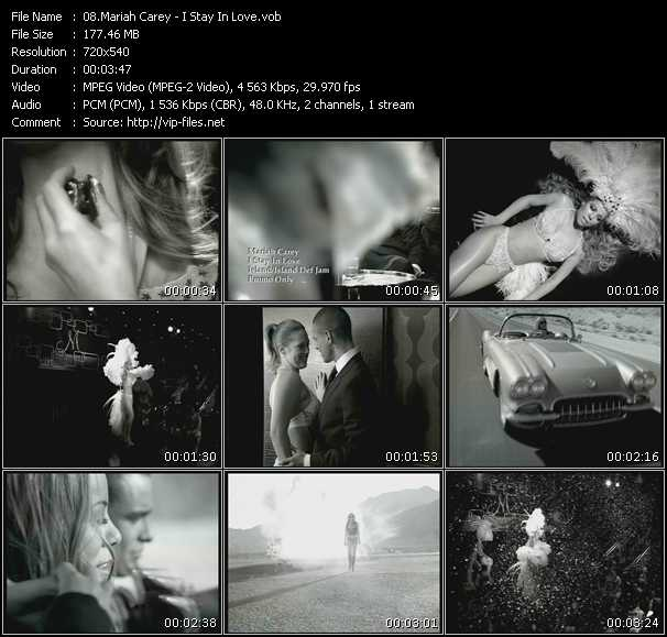 download Mariah Carey « I Stay In Love » video vob