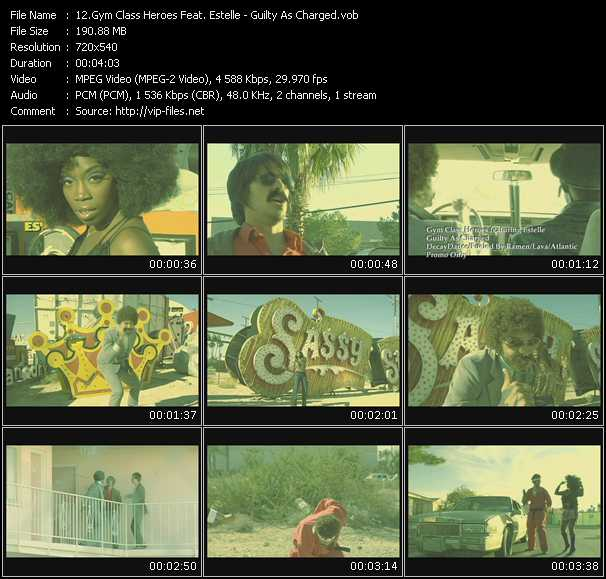 download Gym Class Heroes Feat. Estelle « Guilty As Charged » video vob