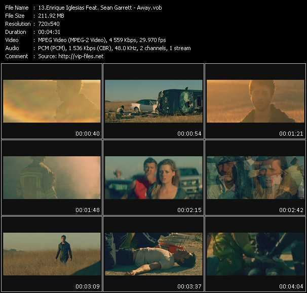 download Enrique Iglesias Feat. Sean Garrett « Away » video vob