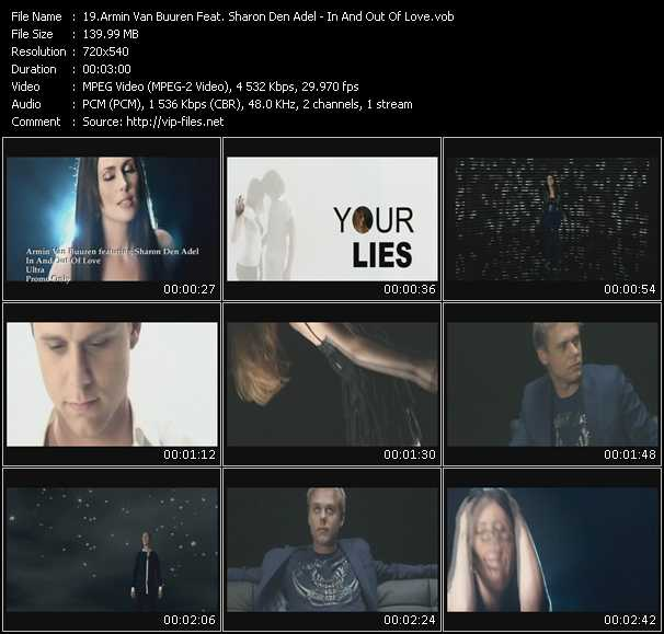 download Armin Van Buuren Feat. Sharon Den Adel « In And Out Of Love » video vob