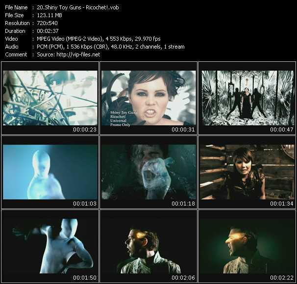 download Shiny Toy Guns « Ricochet! » video vob