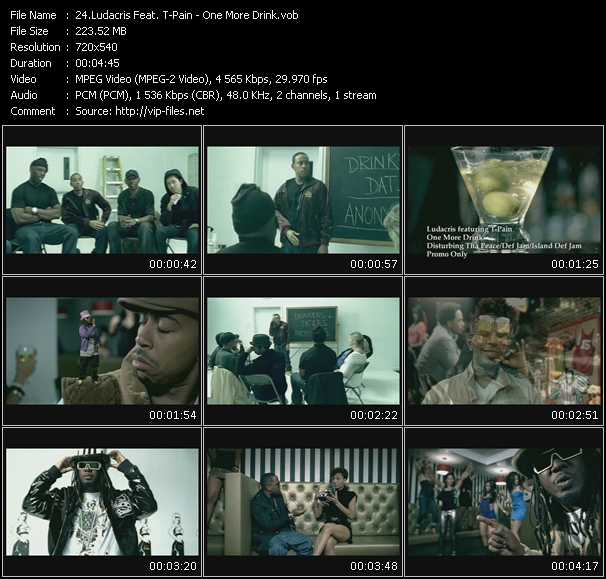 download Ludacris Feat. T-Pain « One More Drink » video vob