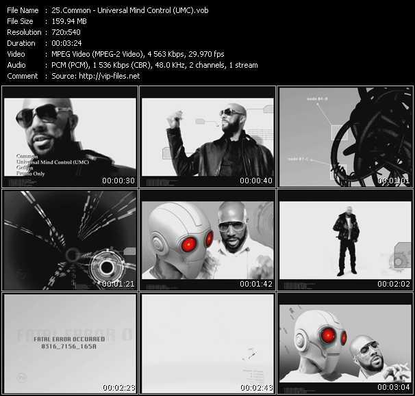 download Common « Universal Mind Control (UMC) » video vob