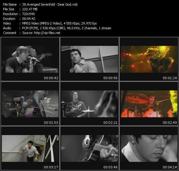 download Avenged Sevenfold « Dear God » video vob