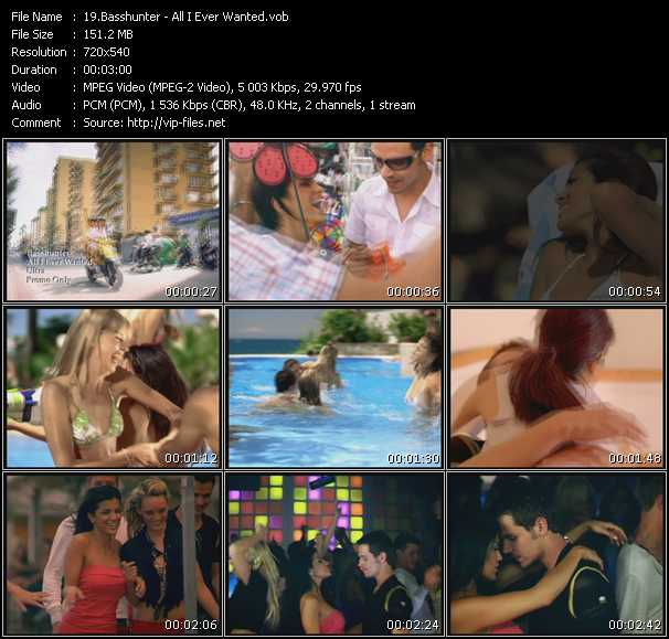 download Basshunter « All I Ever Wanted » video vob