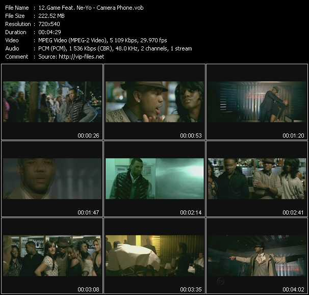 download Game Feat. Ne-Yo « Camera Phone » video vob