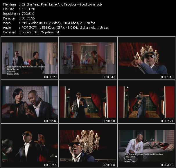 download Slim Feat. Ryan Leslie And Fabolous « Good Lovin' » video vob