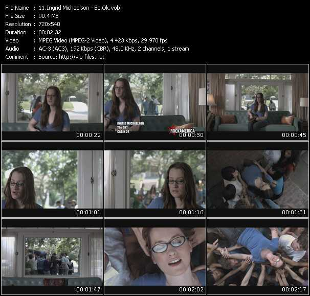 download Ingrid Michaelson « Be Ok » video vob