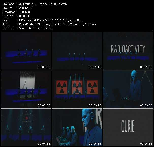 download Kraftwerk « Radioactivity (Live) » video vob
