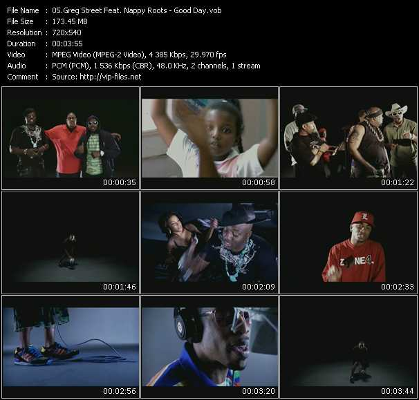 download Greg Street Feat. Nappy Roots « Good Day » video vob