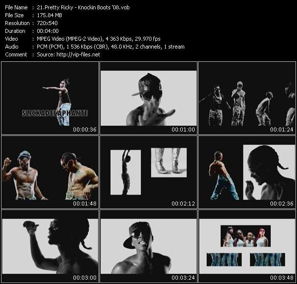 download Pretty Ricky « Knockin Boots '08 » video vob