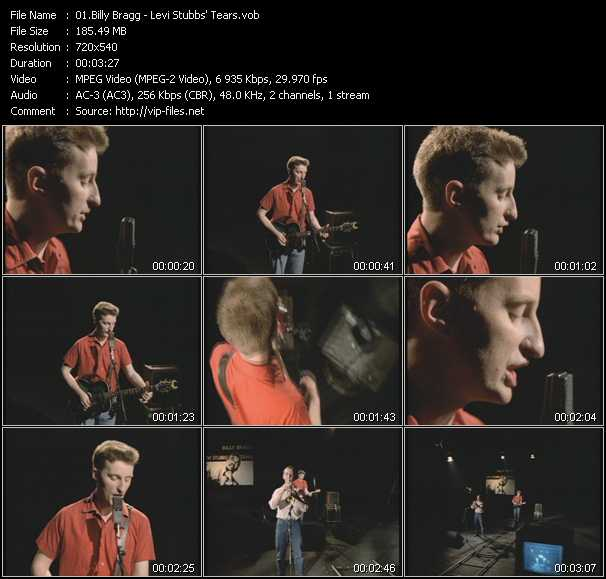 download Billy Bragg « Levi Stubbs' Tears » video vob
