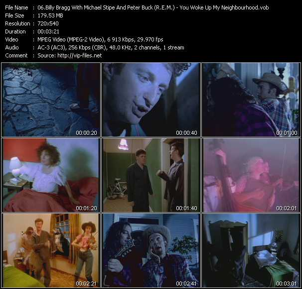 download Billy Bragg With Michael Stipe And Peter Buck (R.E.M.) « You Woke Up My Neighbourhood » video vob