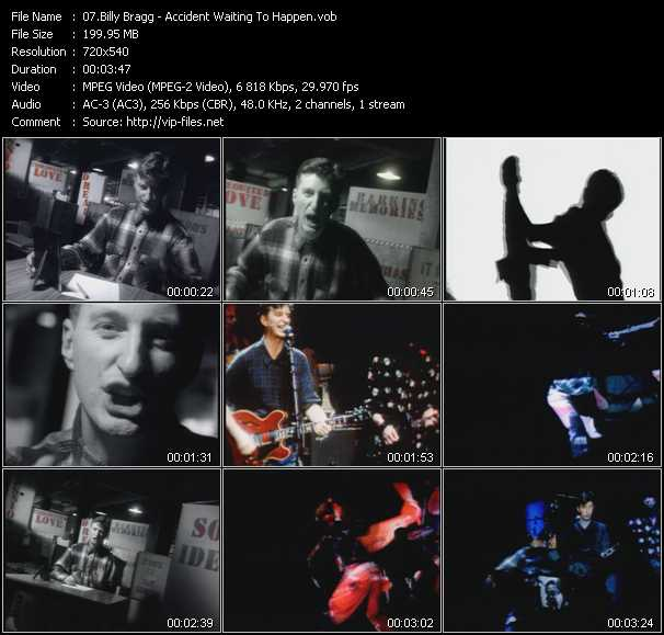download Billy Bragg « Accident Waiting To Happen » video vob