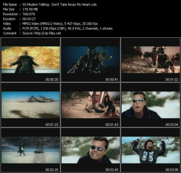 download Modern Talking « Don't Take Away My Heart » video vob