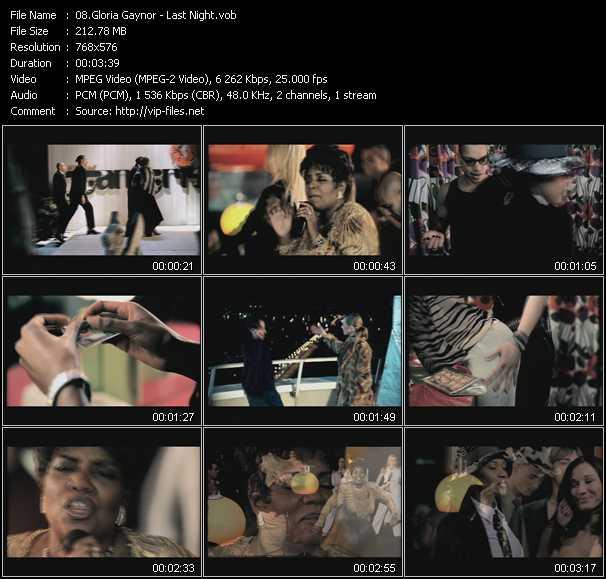 download Gloria Gaynor « Last Night » video vob