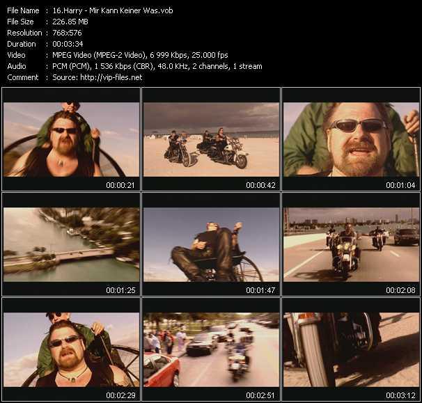 download Harry « Mir Kann Keiner Was » video vob