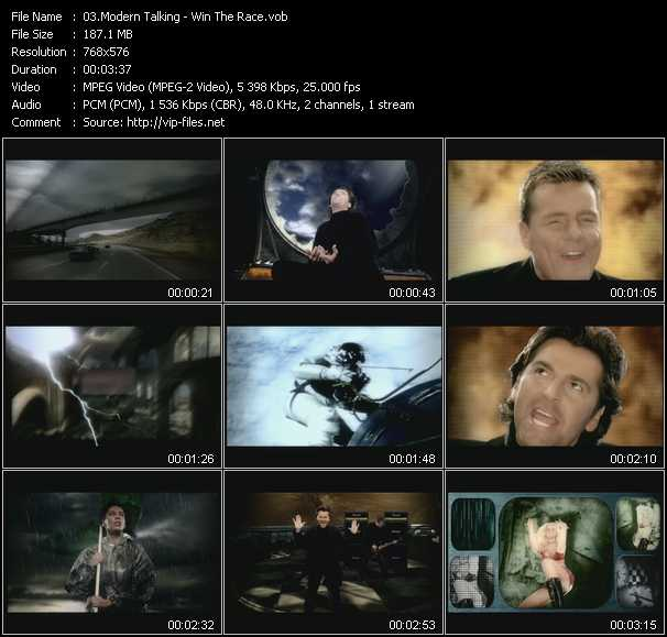 download Modern Talking « Win The Race » video vob