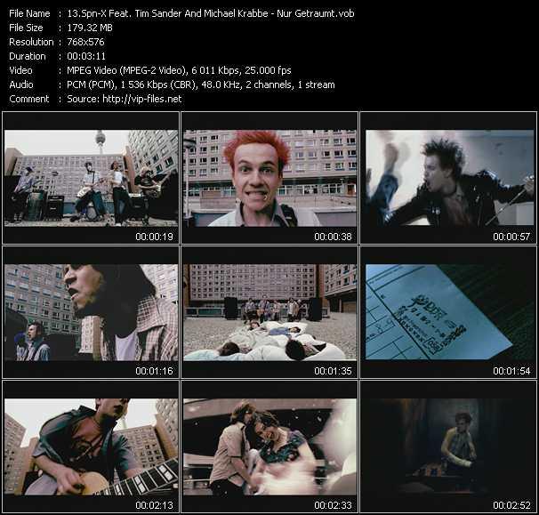 download Spn-X Feat. Tim Sander And Michael Krabbe « Nur Getraumt » video vob