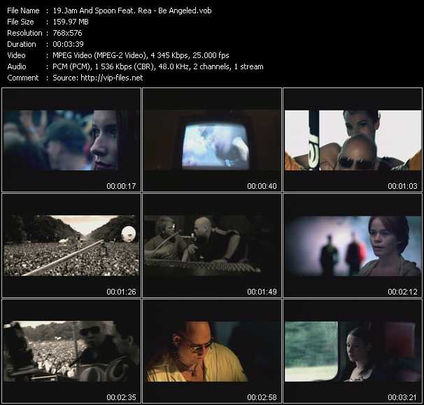 download Jam And Spoon Feat. Rea « Be Angeled » video vob