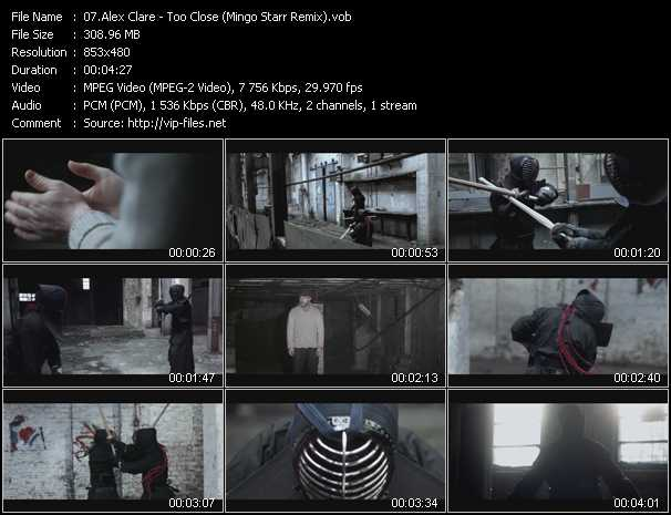 download Alex Clare « Too Close (Mingo Starr Remix) » video vob