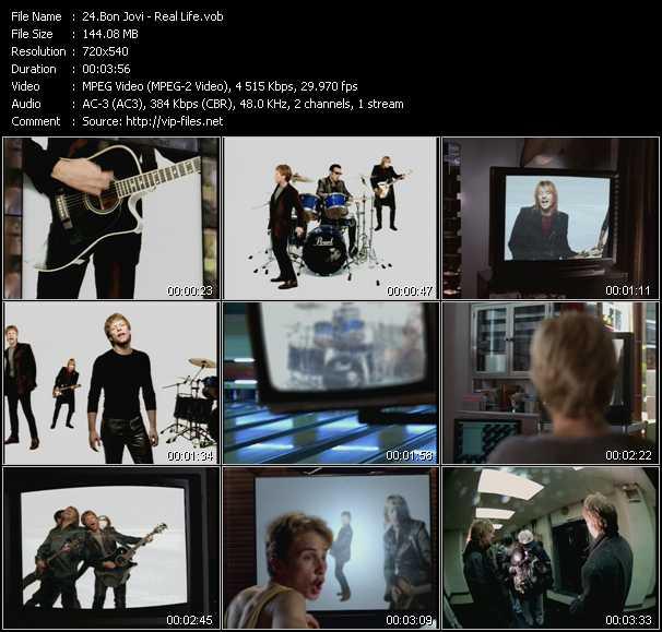 download Bon Jovi « Real Life » video vob