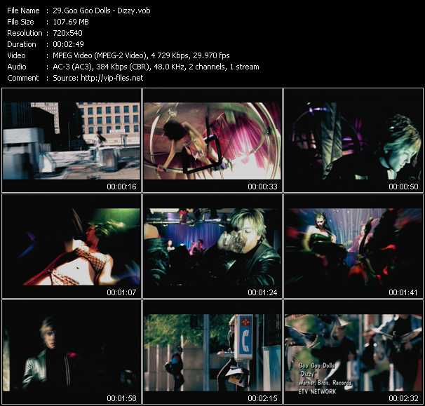 download Goo Goo Dolls « Dizzy » video vob