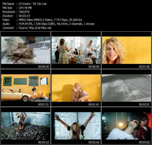 download Kesha « Tik Tok » video vob