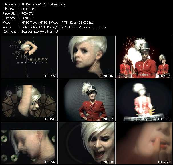 download Robyn « Who's That Girl? » video vob