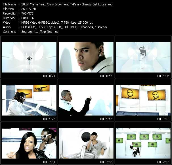 download Lil' Mama Feat. Chris Brown And T-Pain « Shawty Get Loose » video vob