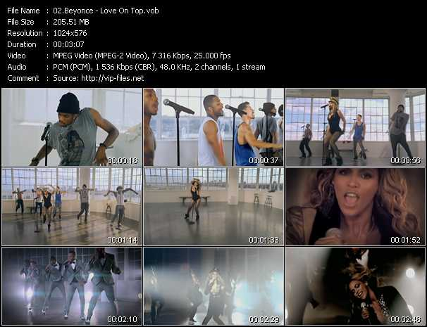 download Beyonce « Love On Top » video vob