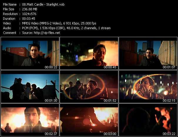 download Matt Cardle « Starlight » video vob