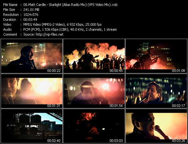 download Matt Cardle « Starlight (Alias Radio Mix) (VPS Video Mix) » video vob