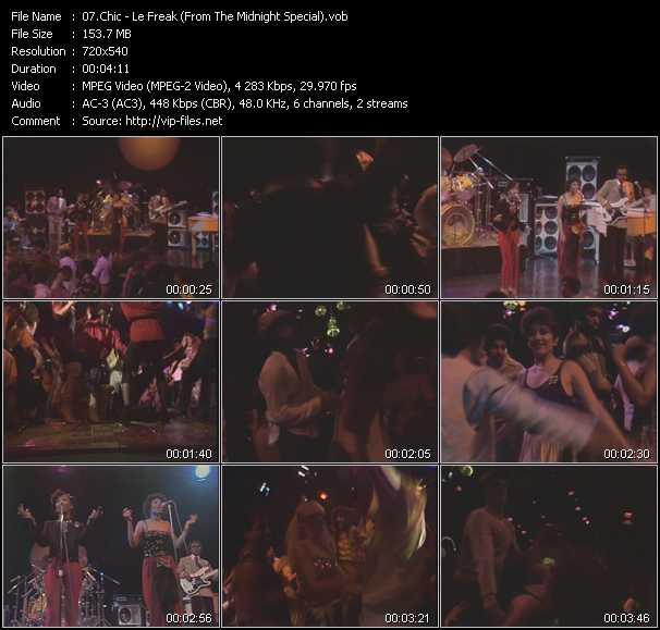 download Chic « Le Freak (From The Midnight Special) » video vob