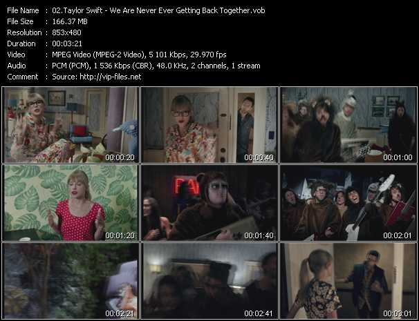 download Taylor Swift « We Are Never Ever Getting Back Together » video vob